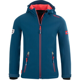 TROLLKIDS Trollfjord Jacket Girls midnight blue/coral